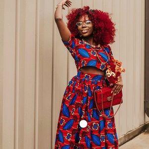 African Ankara women top and skirt